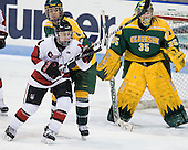 Kendall Coyne (Northeastern - 77), Vanessa Plante (Clarkson - 11), Emily Horn (Clarkson - 35) - The Northeastern University Huskies defeated the visiting Clarkson University Golden Knights 5-2 on Thursday, January 5, 2012, at Matthews Arena in Boston, Massachusetts.