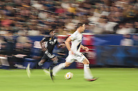 CARSON, CA - SEPTEMBER 15: Gerson #12 of Sporting Kansas City moves with the ball during a game between Sporting Kansas City and Los Angeles Galaxy at Dignity Health Sports Complex on September 15, 2019 in Carson, California.
