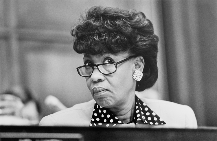 Rep. Maxine Waters, D-Calif., in February 1991. (Photo by Laura Patterson/CQ Roll Call)