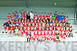Future football stars who attended the Kelloggs Cúl Camp in Currow last Friday
