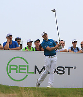 Matthew Fitzpatrick (ENG) on the 11th tee during Round 1 of the D+D Real Czech Masters at the Albatross Golf Resort, Prague, Czech Rep. 31/08/2017<br /> Picture: Golffile | Thos Caffrey<br /> <br /> <br /> All photo usage must carry mandatory copyright credit     (&copy; Golffile | Thos Caffrey)