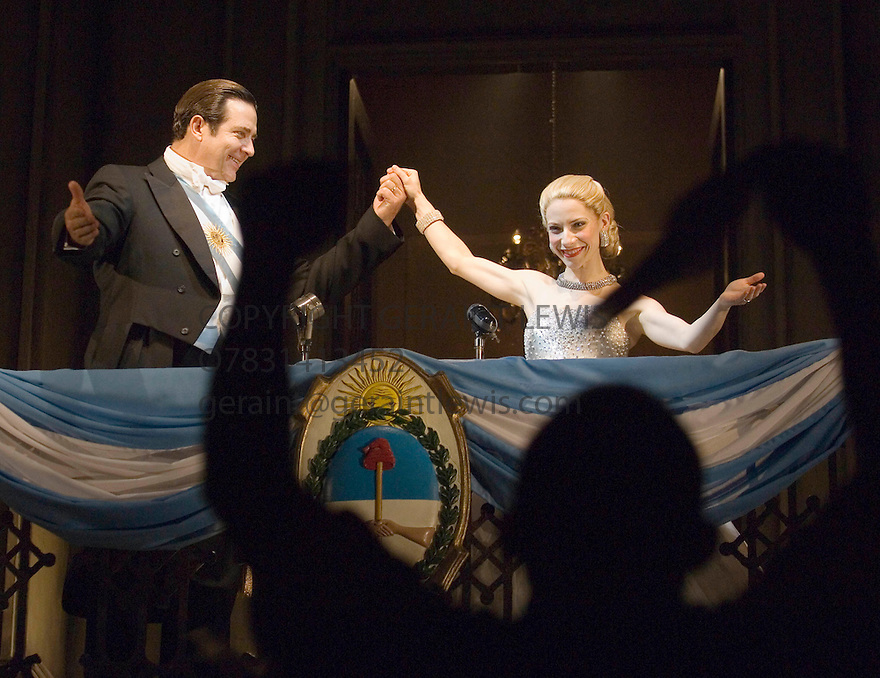 Evita by Andrew Lloyd Webber and Tin Rice,directed by Michael Grandage. With Elena Roger as Eva Peron ,Philip Quest as Peron. Opens at the Adelphi Theatre on 21/6/06. CREDIT Geraint Lewis