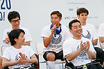 Japan's Paralympic athletes speak during the 3 Years to Go! ceremony for the Tokyo 2020 Paralympic games at Urban Dock LaLaport Toyosu on August 25, 2017. The Games are set to start on August 25th 2020. (Photo by Rodrigo Reyes Marin/AFLO)