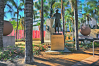 Los Angeles, CA, Pershing Square, Beethoven Bronze Statue, Public Art Display