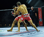 CORAL GABLES, FL - SEPTEMBER 09: (L-R) Demarques Jackson fight Raush Manfio in their Lightweight bout during the TITAN FC41 UFC fight event at Bank United Center on September 9, 2016 in Miami, Florida. ( Photo by Johnny Louis / jlnphotography.com )