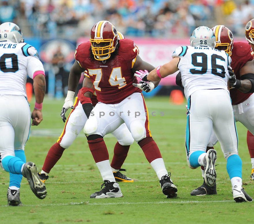 STEPHON HEYER, of the Washington Redskins in action during the Redskins game against the Carolina Panthers on October 11, 2009 in Charlotte, NC. Panthers won 20-17.