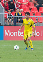 July 20, 2013: Columbus Crew defender/midfielder Danny O'Rourke #5 in action during a game between Toronto FC and the Columbus Crew at BMO Field in Toronto, Ontario Canada.<br /> Toronto FC won 2-1.