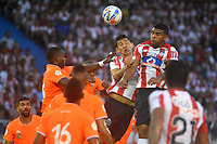 BARRANQUILLA - COLOMBIA, 12-AGOSTO-2017:Atlético Junior y Envigado FC en partido por la fecha 7 de la Liga Águila II 2017 jugado en el estadio Metropolitano Roberto Meléndez de la ciudad de Barranquilla. / Atletico Junior and Envigado FC in match for the date 7 of the Aguila League II 2017 played at Metropolitano Roberto Melendez stadium in Barranquilla city. Photo: Vizzorimage / Alfonso Cervantes / Stringer
