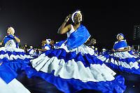 ATENÇÃO EDITOR FOTO EMBARGADA PARA VEÍCULOS INTERNACIONAIS - SÃO PAULO, SP, 01 DE FEVEREIRO DE 2013 - ENSAIO TÉCNICO ÁGUIA DE OURO - Ensaio técnico da Escola de Samba Águia de Ouro na preparação para o Carnaval 2013. O ensaio foi realizado na noite desta sexta (02) no Sambódromo do Anhembi, zona norte da cidade. FOTO LEVI BIANCO - BRAZIL PHOTO PRESS