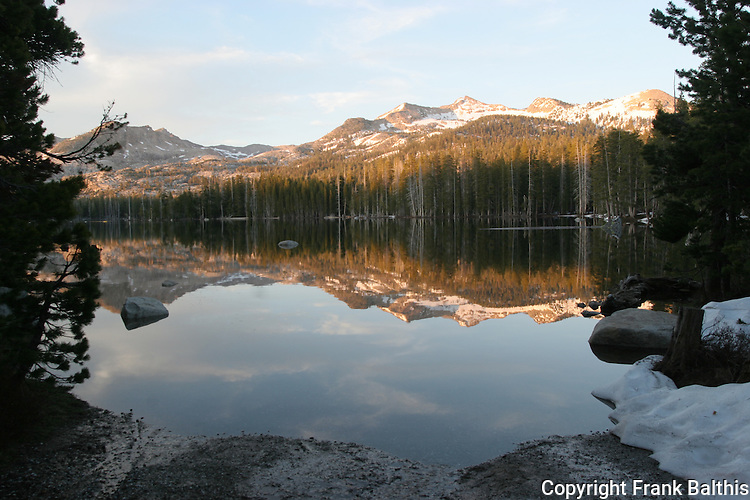 Wrights Lake at sunset, Eldorado National Forest