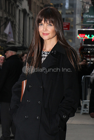 NEW YORK, NY - DECEMBER 6: Katie Holmes at Good Morning America promoting her new film All We Had on December 6, 2016  in New York City. Credit: RW/MediaPunch