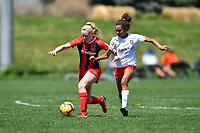 Commerce City, CO - Sunday April 28, 2019: U.S. Soccer Development Academy U-15 Girls Spring Showcase match between Lonestar SC Academy vs Washington Spirit Academy at Dick's Sporting Goods Park.