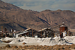 Chemical Borax piles and processing plant at Trona, California