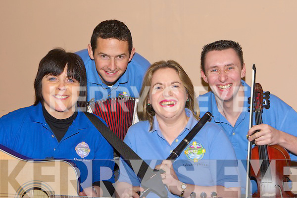 Mary O'Callaghan, Michael McGillicuddy, Rosie Healy and Padraig Creedon Glenflesk who played at the East Kerry Sco?r Sinsear final in Fossa Community Centre on Sunday