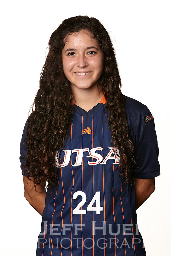 SAN ANTONIO, TX - AUGUST 2, 2014: The University of Texas at San Antonio Women's Soccer Team and Individual photographs. (Photo by Jeff Huehn)