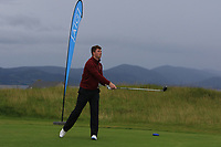 Frank Geary Jnr (Ballybunion) on the 1st tee during the Munster Final of the AIG Junior Cup at Tralee Golf Club, Tralee, Co Kerry. 13/08/2017<br /> Picture: Golffile | Thos Caffrey<br /> <br /> <br /> All photo usage must carry mandatory copyright credit     (&copy; Golffile | Thos Caffrey)