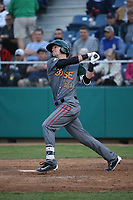 Matt McLaughlin (54) of the Boise Hawks bats against the Everett AquaSox at Everett Memorial Stadium on July 20, 2017 in Everett, Washington. Everett defeated Boise, 13-11. (Larry Goren/Four Seam Images)
