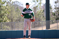 CARY, NC - FEBRUARY 23: McCae Allen #48 of Wagner College stands on the mound during a game between Wagner and Penn State at Coleman Field at USA Baseball National Training Complex on February 23, 2020 in Cary, North Carolina.