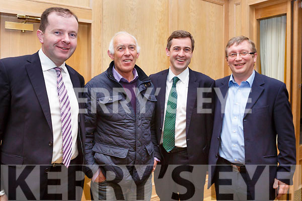 Fionan Fitzgerald, Jimmy Coffey, Sen mark Daley and Brendan Fitzgerald attending the Kerry Fianna Fail Comhairle Dail Ceantair, convention in the Ballygarry House Hotel on Sunday night last.