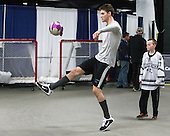 Mark Jankowski (PC - 10), Kevin Rich (PC - 17) - The Providence College Friars warmed up prior to the Frozen Four final at TD Garden on Saturday, April 11, 2015, in Boston, Massachusetts.