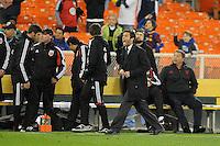 D.C. United head coach Ben Olsen.  D.C. United tied The Montreal Impact 1-1, at RFK Stadium, Wednesday April 18 , 2012.