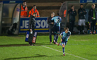 Sam Saunders of Wycombe Wanderers replaces Myles Weston of Wycombe Wanderers during the Sky Bet League 2 match between Wycombe Wanderers and Plymouth Argyle at Adams Park, High Wycombe, England on 14 March 2017. Photo by Andy Rowland / PRiME Media Images.