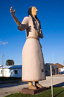 Statue of Pocahontas in the town of the same name in Iowa.