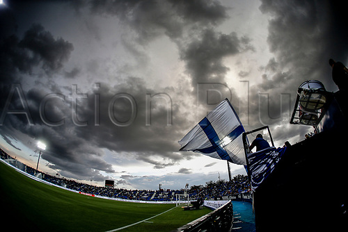 7th May 2018,  Estadio Municipal de Butarque, Leganes, Spain; La Liga football, Leganes versus Levante; Storm clouds over the stadium at kick-off
