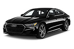2019 Audi A7 Prestige 5 Door Hatchback angular front stock photos of front three quarter view