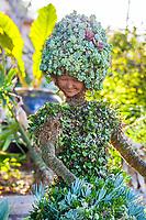 Whimsical succulent sculpture at San Diego Botanic Garden