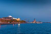 U.S. Navy, Battleship, New Jersey, Adventure Aquarium, Camden NJ, Sunset