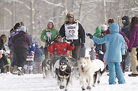 Sonny Lindner Saturday, March 3, 2012  Ceremonial Start of Iditarod 2012 in Anchorage, Alaska.