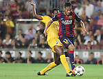 17.09.2014 Barcelona, Spain. Champions League Groups. Picture show Neymar Jr. in action during game beteween FC Barcelona against Apoel at Camp Nou