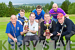 Willian O'Shea, Keel, Paul Twiss Milltown Castlemaine, Derek Comerford Firies and Ned Brosnan Farranfore back row: Joshua O'Sullivan, Mark Kennedy Keel and Danny Brosnan Firies at the launch of the Ryder cup competitions which will be held in Killorglin golf course next Saturday