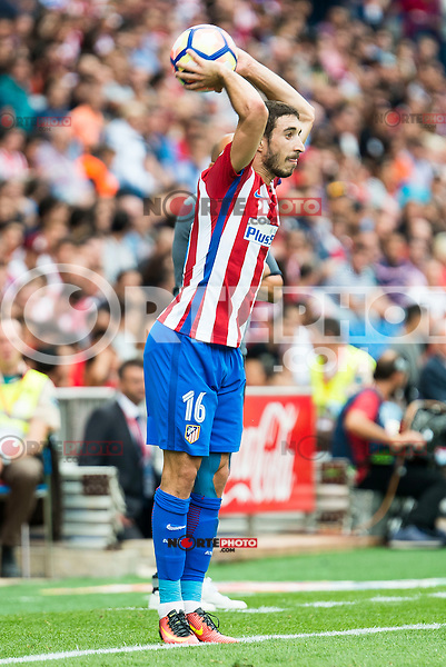 Atletico de Madrid's player Sime Vrsaljko during a match of La Liga Santander at Vicente Calderon Stadium in Madrid. September 17, Spain. 2016. (ALTERPHOTOS/BorjaB.Hojas) /NORTEPHOTO