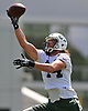 Zach Sudfeld #44, Tight End, makes a one-handed catch during the first day of New York Jets team training camp at Atlantic Health Jets Training Center in Florham Park, NJ on Thursday, July 28, 2016.