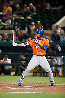 St. Lucie Mets second baseman J.C. Rodriguez (14) at bat during the Florida State League All-Star Game on June 17, 2017 at Joker Marchant Stadium in Lakeland, Florida.  FSL North All-Stars  defeated the FSL South All-Stars  5-2.  (Mike Janes/Four Seam Images)
