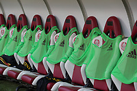 20191008 CLUJ NAPOCA: Belgian players's over shirts are pictured on their seats before the match between Belgium Women's National Team and Romania Women's National Team as part of EURO 2021 Qualifiers on 8th of October 2019 at CFR Stadium, Cluj Napoca, Romania. PHOTO SPORTPIX | SEVIL OKTEM
