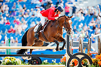 BEL-Joris Vanspringel rides Imperial va de Holtakkers during the Showjumping for the FEI World Team and Individual Eventing Championship. 2018 FEI World Equestrian Games Tryon. Monday 17 September. Copyright Photo: Libby Law Photography