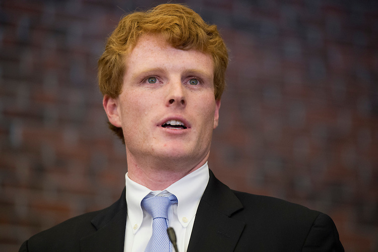 UNITED STATES - OCTOBER 20:  Joe Kennedy, democratic candidate for Massachusetts 4th District, appears at a rally at Laborers Hall in Hopkinton, Mass.  (Photo By Tom Williams/CQ Roll Call)