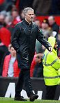 Jose Mourinho manager of Manchester United walks off to boos from the crowd during the premier league match at the Old Trafford Stadium, Manchester. Picture date 15th April 2018. Picture credit should read: Simon Bellis/Sportimage