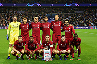 equipe de liverpool<br /> Parigi 28-11-2018 <br /> Paris Saint Germain - Liverpool Champions League 2018/2019<br /> Foto JB Autissier / Panoramic / Insidefoto <br /> ITALY ONLY