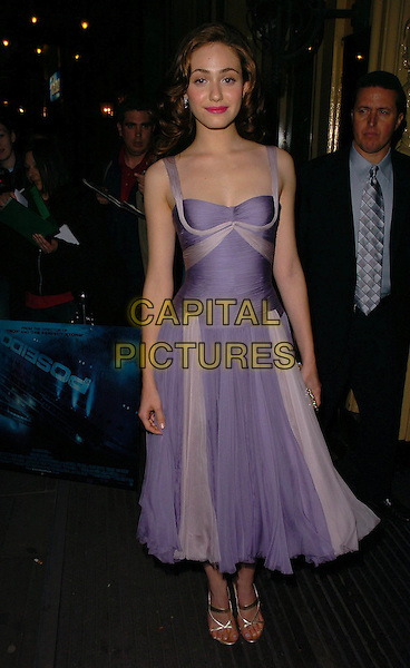 "EMMY ROSSUM.At the UK Film Premiere of ""Poseidon"", .Empire Leicester Square, London, .May 28th 2006..full length purple lilac dress chiffon .Ref: CAN.www.capitalpictures.com.sales@capitalpictures.com.©Can Nguyen/Capital Pictures"