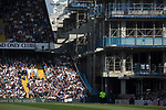 The partly-demolished corner of the ground between the East and North Stands pictured as Tottenham Hotspur took on Watford in an English Premier League match at White Hart Lane. Spurs were due to make an announcement in April 2016 regarding when they would move out of their historic home and relocate to Wembley as their new stadium was completed. Spurs won this match 4-0 watched by a crowd of 31,706, a reduced attendance figure due to the ongoing ground redevelopment.