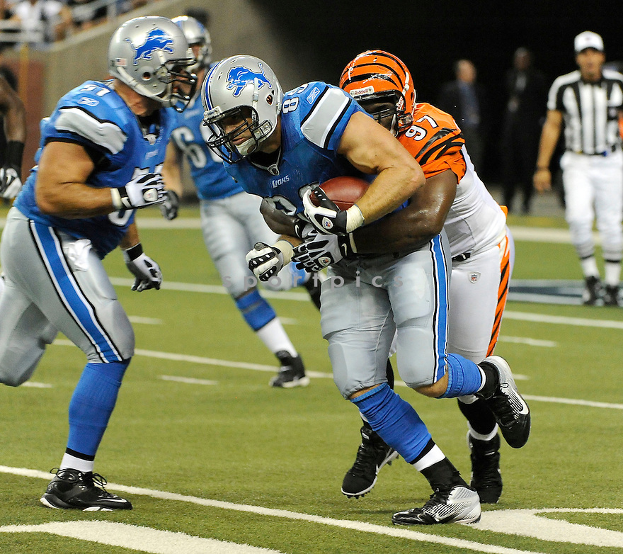 WILL HELLER, of the Detroit Lions in action during the Lions game against the Cincinnati Bengals on August 12, 2011 at Ford Field in Detroit, Michigan. The Lions beat the Bengals 34-3.