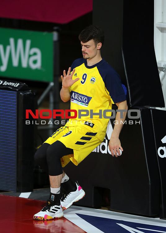 #9 Jonas Mattisseck von Alba Berlin   <br /> Basketball, nph0001 1.Bundesliga BBL-Finalturnier 2020.<br /> Halbfinale Spiel 2 am 24.06.2020.<br /> <br /> Alba Berlin vs EWE Baskets Oldenburg <br /> Audi Dome<br /> <br /> Foto: Christina Pahnke / sampics  / POOL / nordphoto<br /> <br /> National and international News-Agencies OUT - Editorial Use ONLY