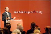 Jacques Chirac. Le prÈsident Jacques Chirac a inaugurÈ le musÈe du quai Branly dÈdie aux arts premiers, lieu de tÈmoignage de la diversitÈ des cultures et invitation a porter un autre regard sur le gÈnie des peuples non europÈens. #