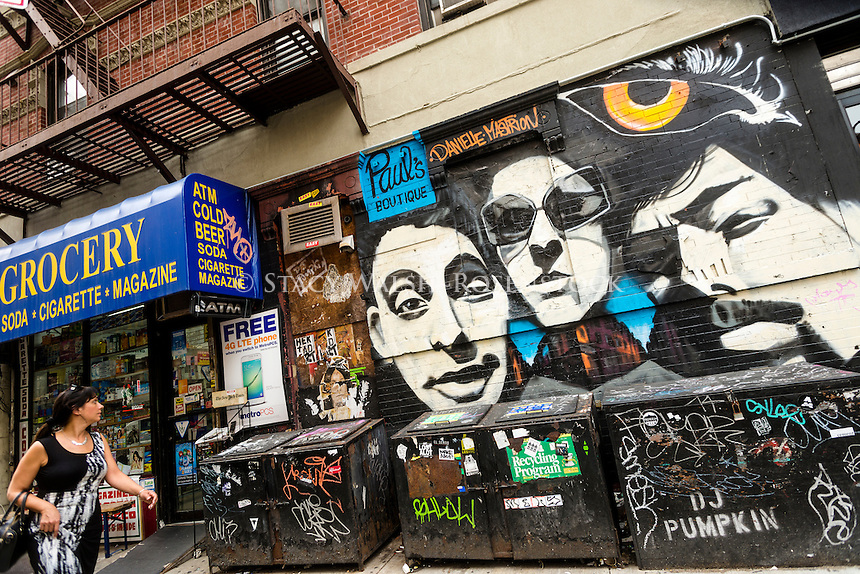 New York, NY - Beastie Boys mural in the Lower East Side of Manhattan