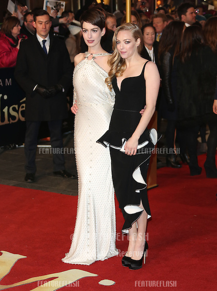 Anne Hathaway, Amanda Seyfried arriving at the World Premiere of 'Les Miserables' held at the Odeon & Empire Leicester Square, London. 05/12/2012 Picture by: Henry Harris / Featureflash