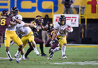 Isi Sofele of California in action during a game against  Arizona State at Sun Devil Stadium in Tempe, California on November 25th, 2011  - California defeated Arizona State  47 - 38